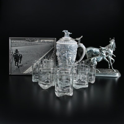 United Nations Handicap Collectors Glasses, Kentucky Derby Stein, and More