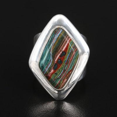 Desert Rose Trading Sterling Fordite Ring