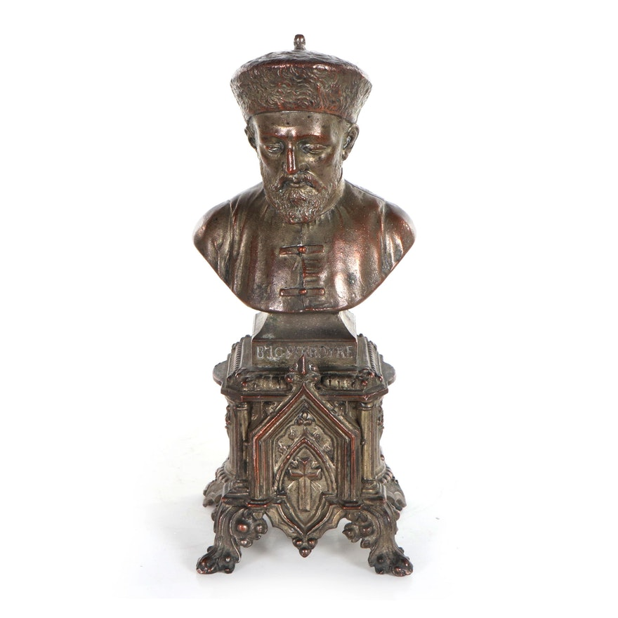 Zinc Alloy Sculpture of Jean Gabriel Perboyre Bust