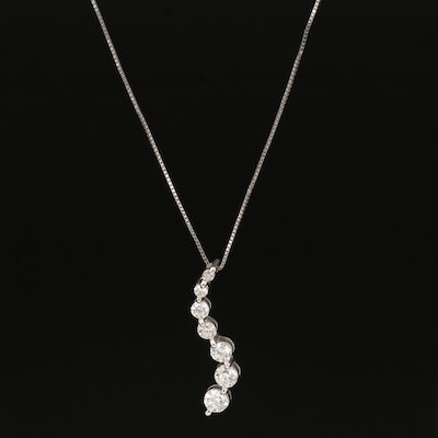 14K Diamond Journey Pendant Necklace