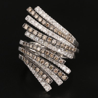 18K 2.02 CTW Diamond Bypass Ring