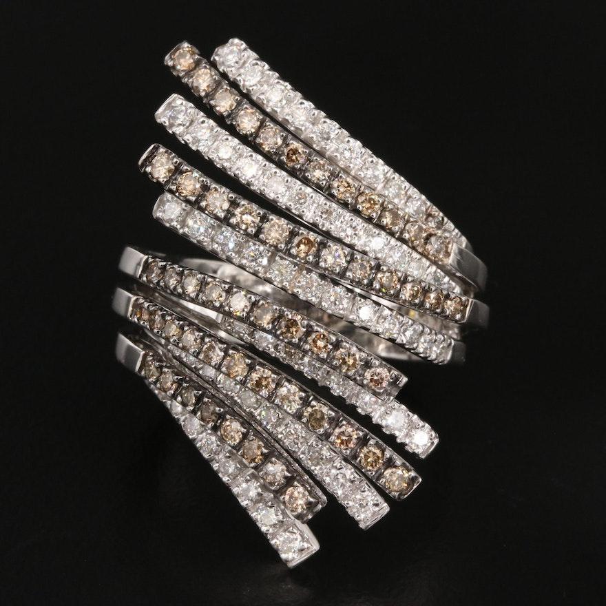 18K 2.02 CTW Diamond Bypass Ring