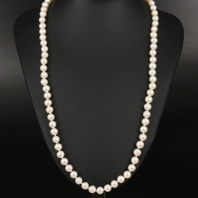 Sofia Pearl Necklace with 14K Clasp
