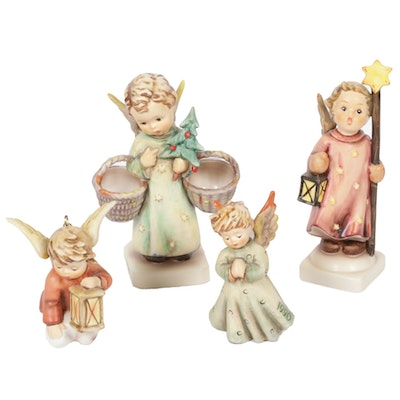"Goebel ""Christmas Angel,"" ""Christmas Song,"" and Other Porcelain Hummel Figurines"
