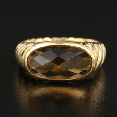 "David Yurman ""Noblesse"" 18K Citrine Ring"