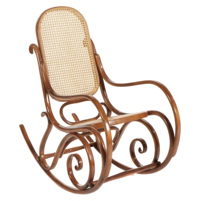 Thonet Bentwood and Cane Rocking Chair, Late 20th Century
