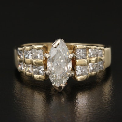 14K 1.28 CTW Diamond Ring