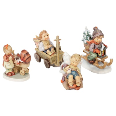 "Goebel ""I'm Carefree,"" ""Ride into Christmas"" and Othe Porcelain Hummel Figures"