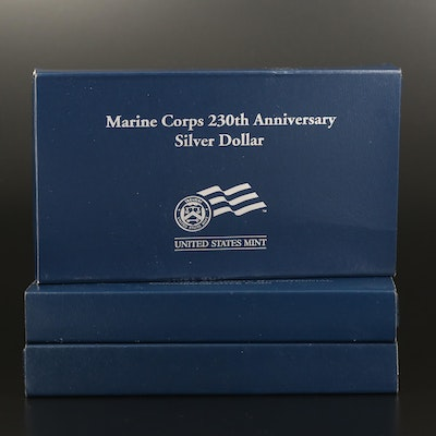 Three U.S. Mint Commemorative Proof Silver Dollars