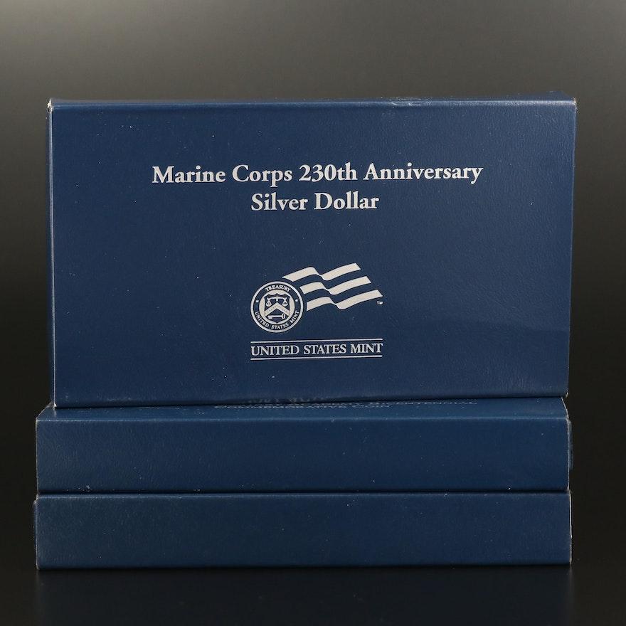 Three U.S. Mint Commemorative Proof Silver Dollars
