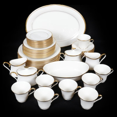 "Lenox Dimension Collection ""Eternal White"" Porcelain Dinner Service for Eight"