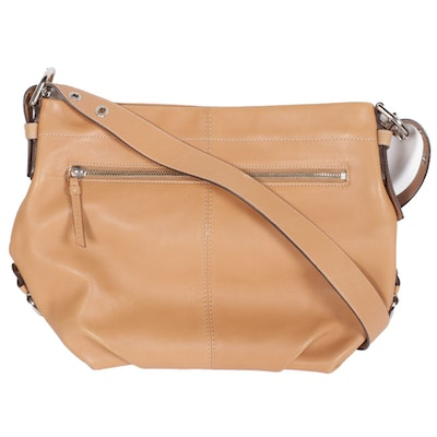 Coach Tan Leather Duffle Shoulder Bag