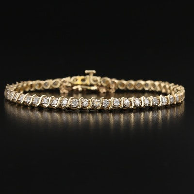 10K 1.88 CTW Diamond S-Link Bracelet