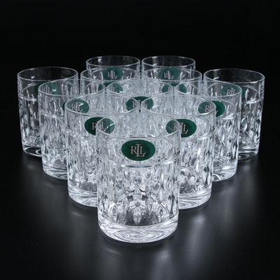 "Ralph Lauren ""Aston"" Crystal Double Old Fashioned Glasses, 2009–2015"