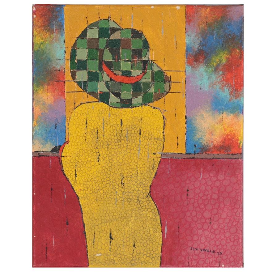 """Oluseyi Soyege Acrylic Painting """"Put Everything Behind You..."""""""