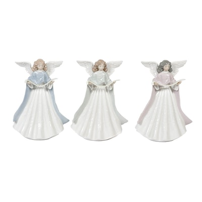 Lladró Singing Angel Porcelain Tree Toppers Designed by Francisco Catalá
