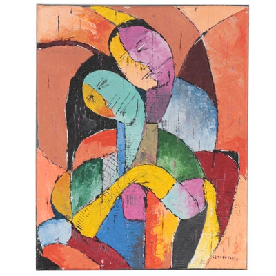 "Oluseyi Soyege Acrylic Painting ""Strong Love"""