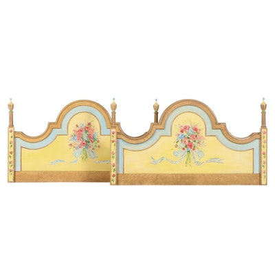 Pair of Hand Painted Twin Size Headboards