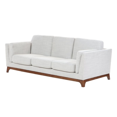 "Article ""Ceni"" Mid-Century Modern Style Upholstered Sofa with Wood Base"