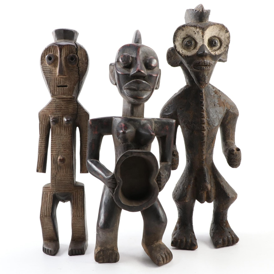 West African Style Handcrafted Wood Figures