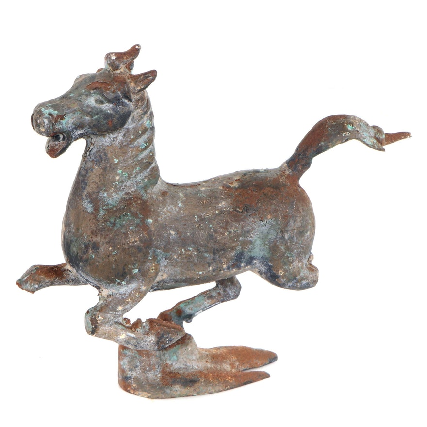 Bronze Sculpture of Galloping Horse
