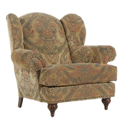Alan White Upholstered Wingback Armchair, Late 20th Century