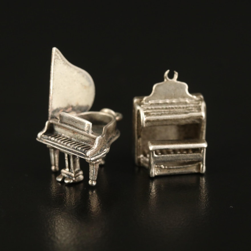 Sterling Organ and Piano Charms