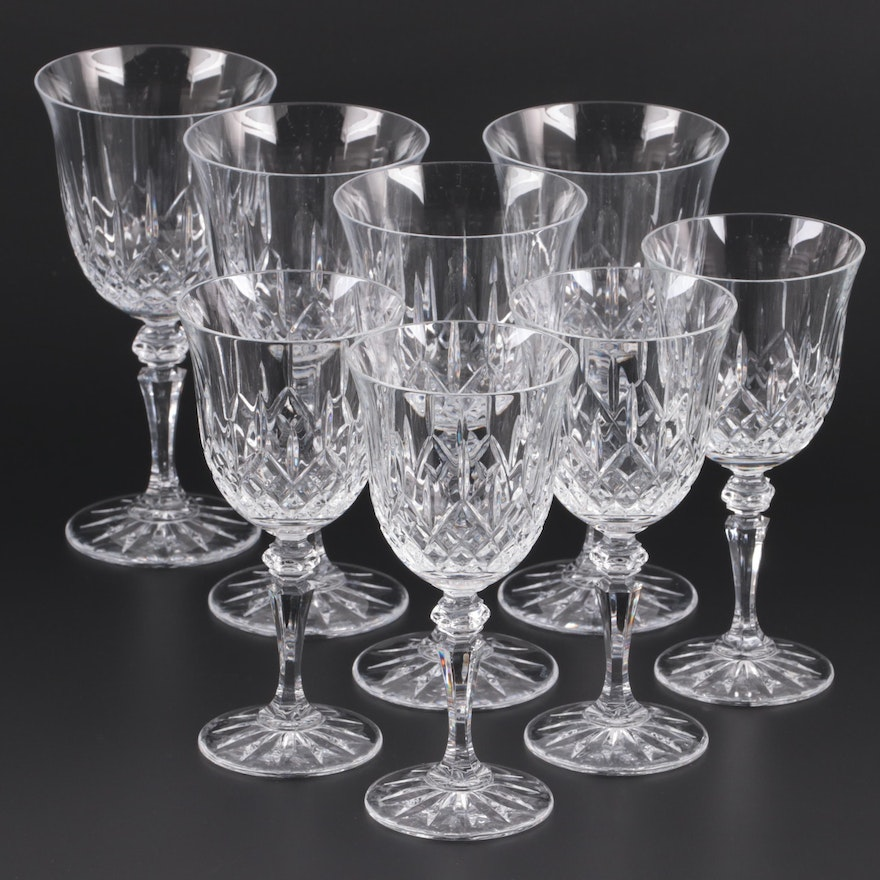 """Galway """"Longford"""" Crystal Water Goblets and Red Wine Glasses, 1985–2006"""