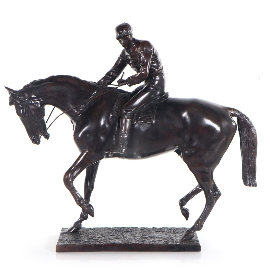 "Bronze Sculpture after Isidore Jules Bonheur ""Le Grand Jockey"""