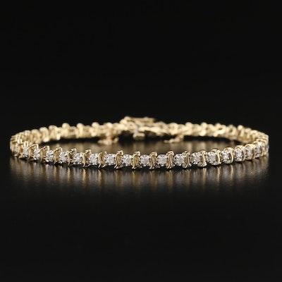 14K 1.15 CTW Diamond Link Bracelet