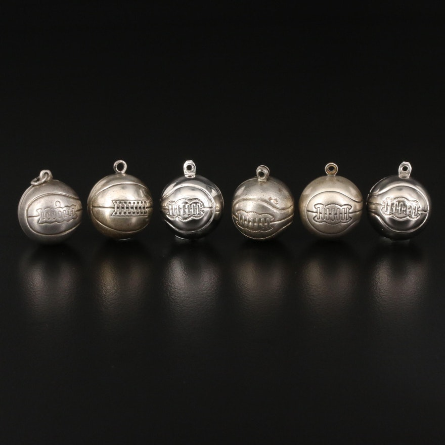 Sterling Basketball Charms