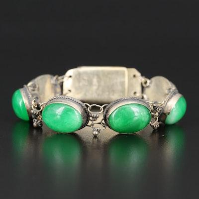 Bezel Set Quartzite Bracelet