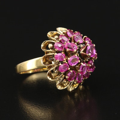 14K Ruby Tiered Ring