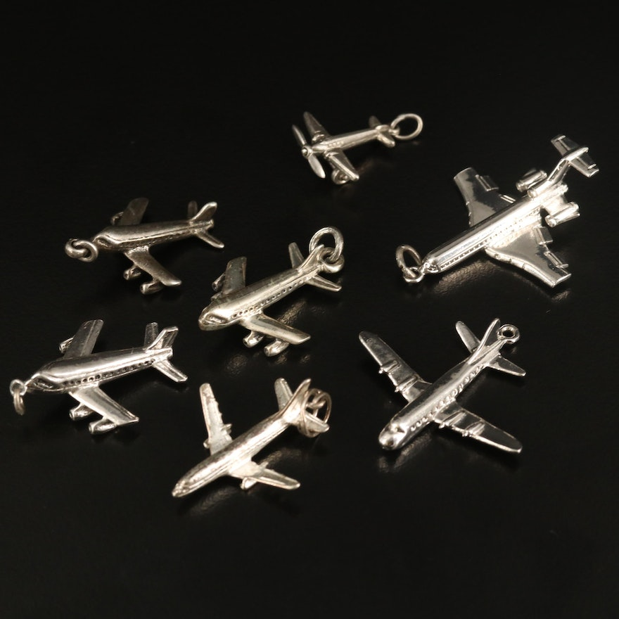 Vintage Sterling Airplane Charm Selection