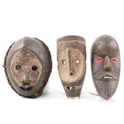 Central and West African Style Wooden Masks