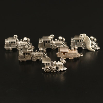 Vintage Sterling Locomotive Charm Selection