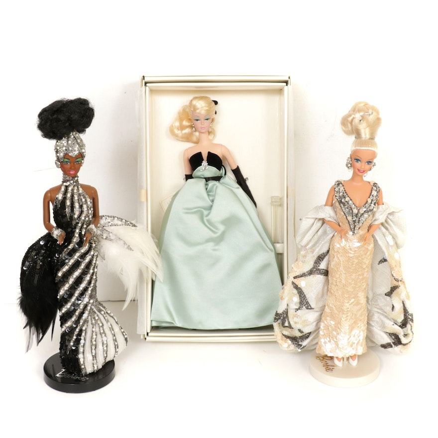 "Mattel Fashion Model Collection Porcelain ""Lisette"" and Other Barbie Dolls"
