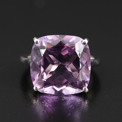 Sterling Amethyst Cocktail Ring