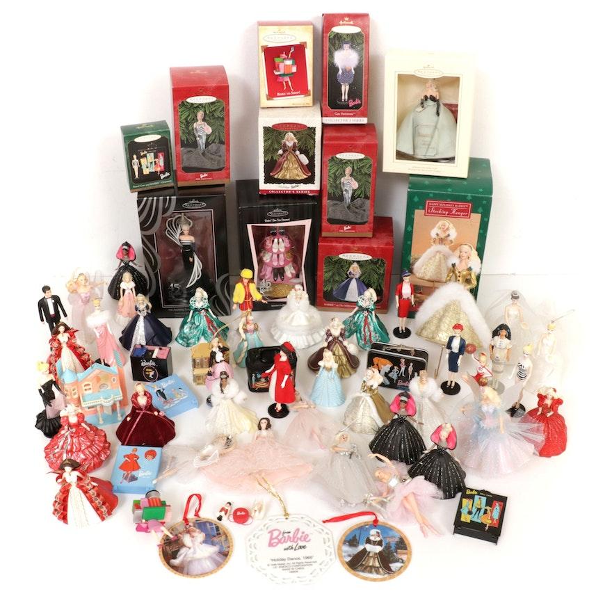 Barbie, Hallmark, and Other Christmas Ornaments