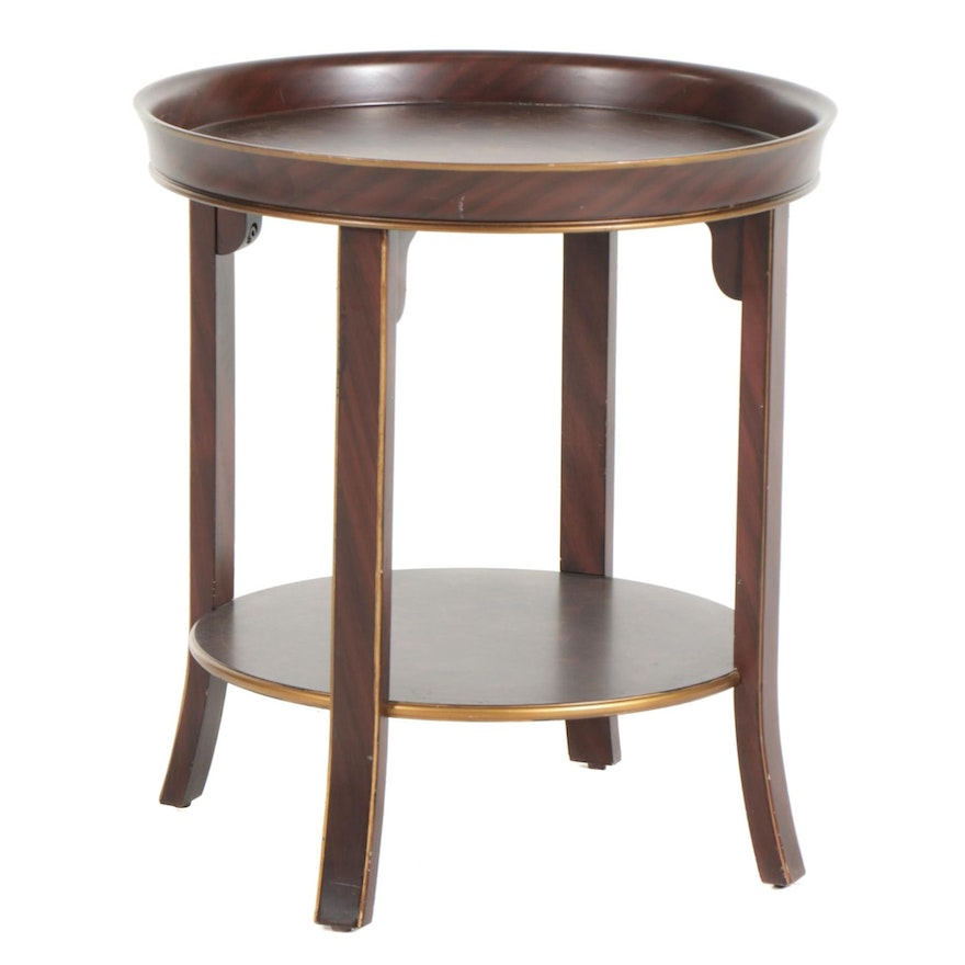 Round Center Table with Arabesque Decoration, 21st Century