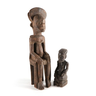 Kuba Ancestor Figure and Other Central African Figure