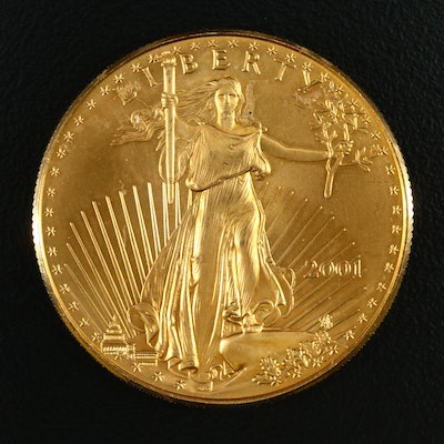 Lower Mintage 1 Troy Ounce $50 Gold Eagle, 2001