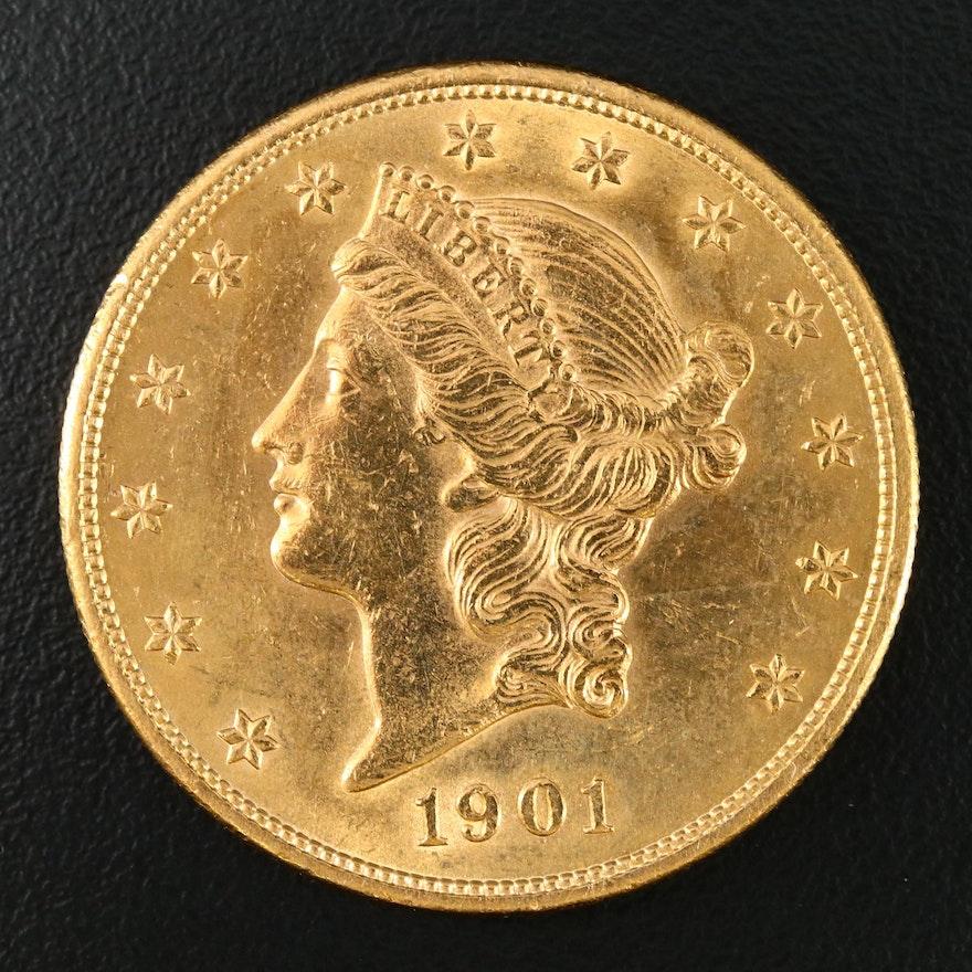 1901 Liberty Head $20 Gold Double Eagle