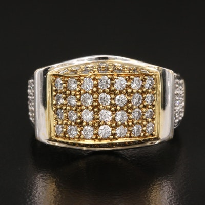 18K Two-Tone 2.50 CTW Diamond Ring