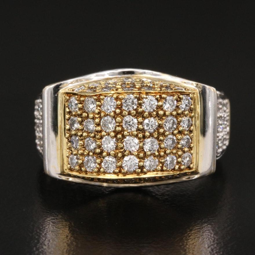 18K Two-Tone 2.50 CTW Diamond Ring