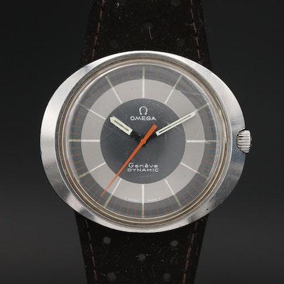 1969 Omega Geneve Dynamic Stainless Steel Stem Wind Wristwatch