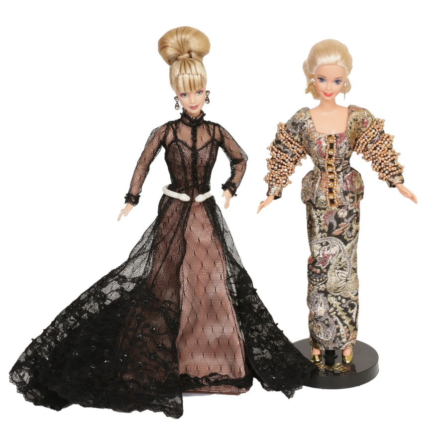 Christian Dior for Mattel and Other Barbie Doll with Stand