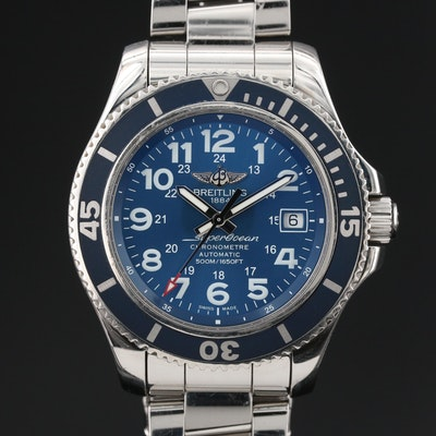 "Breitling ""SuperOcean II"" 42 Stainless Steel Automatic Wristwatch"
