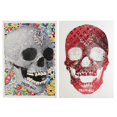 Death NYC Pop Art Graphic Prints Featuring Skulls, 2020