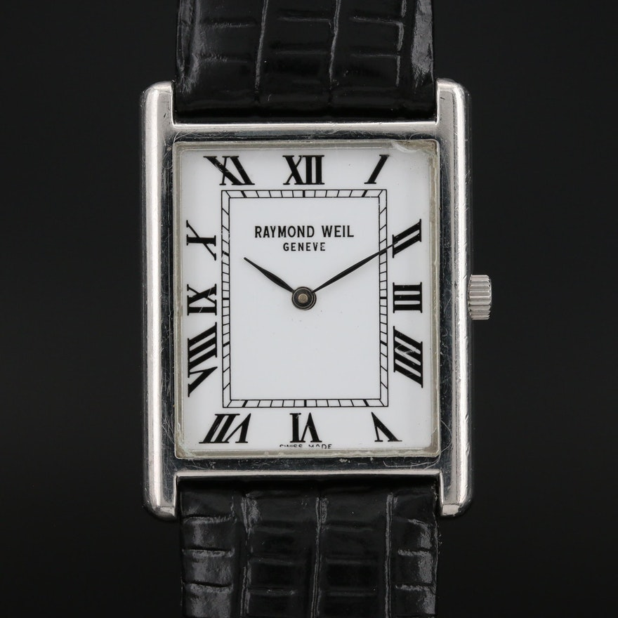 "Raymond Weil ""Tradition"" Stainless Steel Quartz Wristwatch"